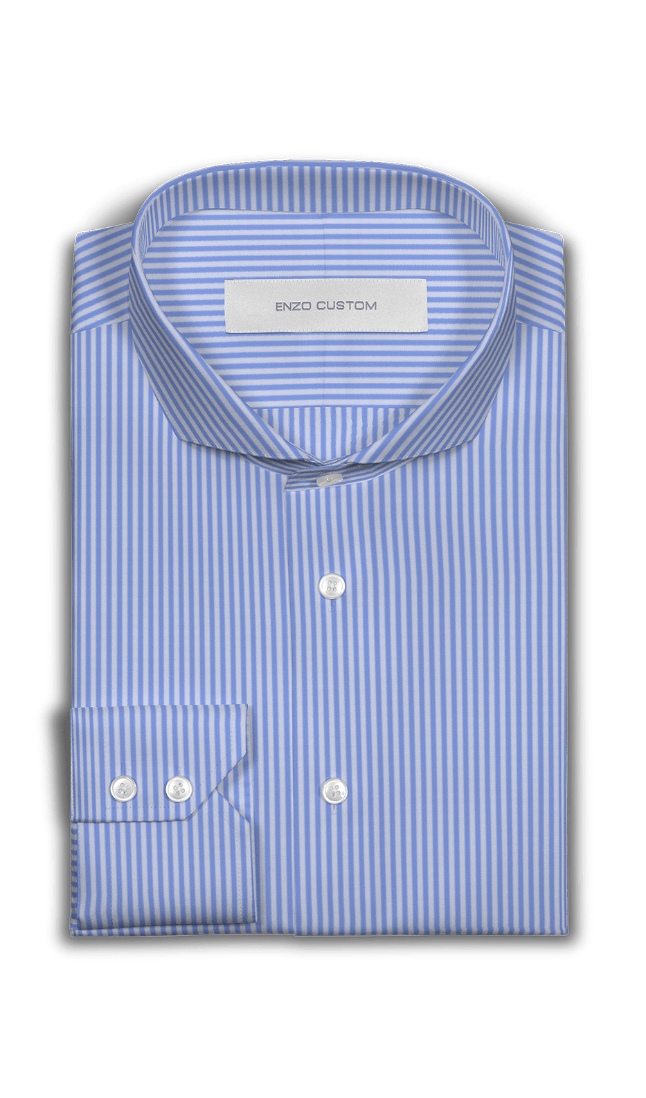 Blue/White Striped Dress Shirt - Enzo Custom