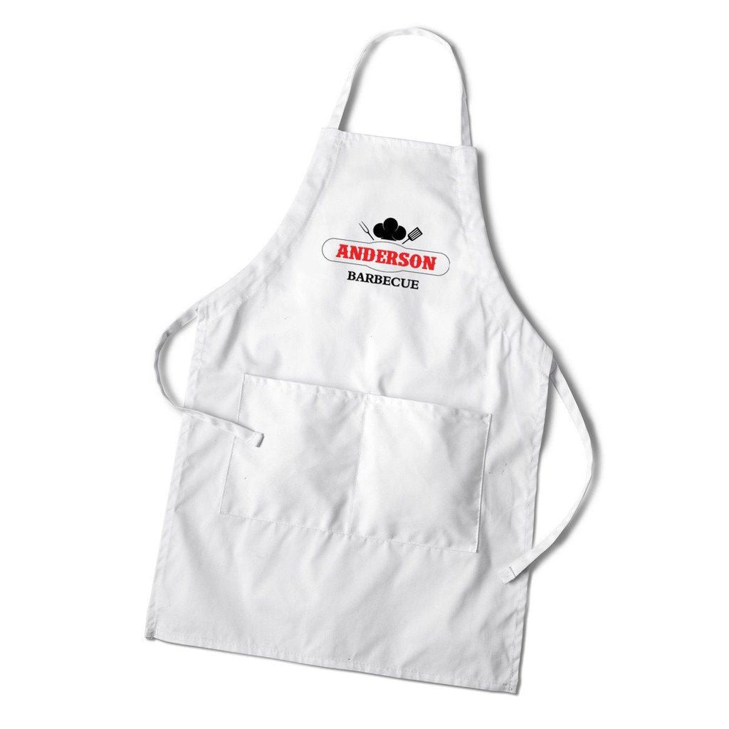 Men's Grilling White Apron