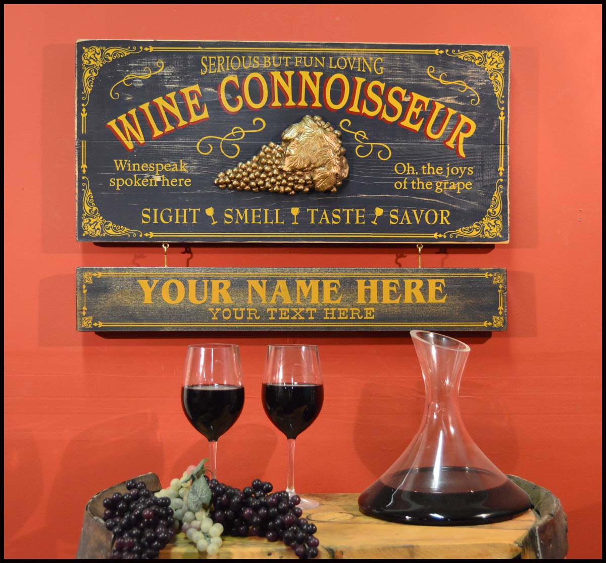 Wine Connoisour - Occupational Plank Signs