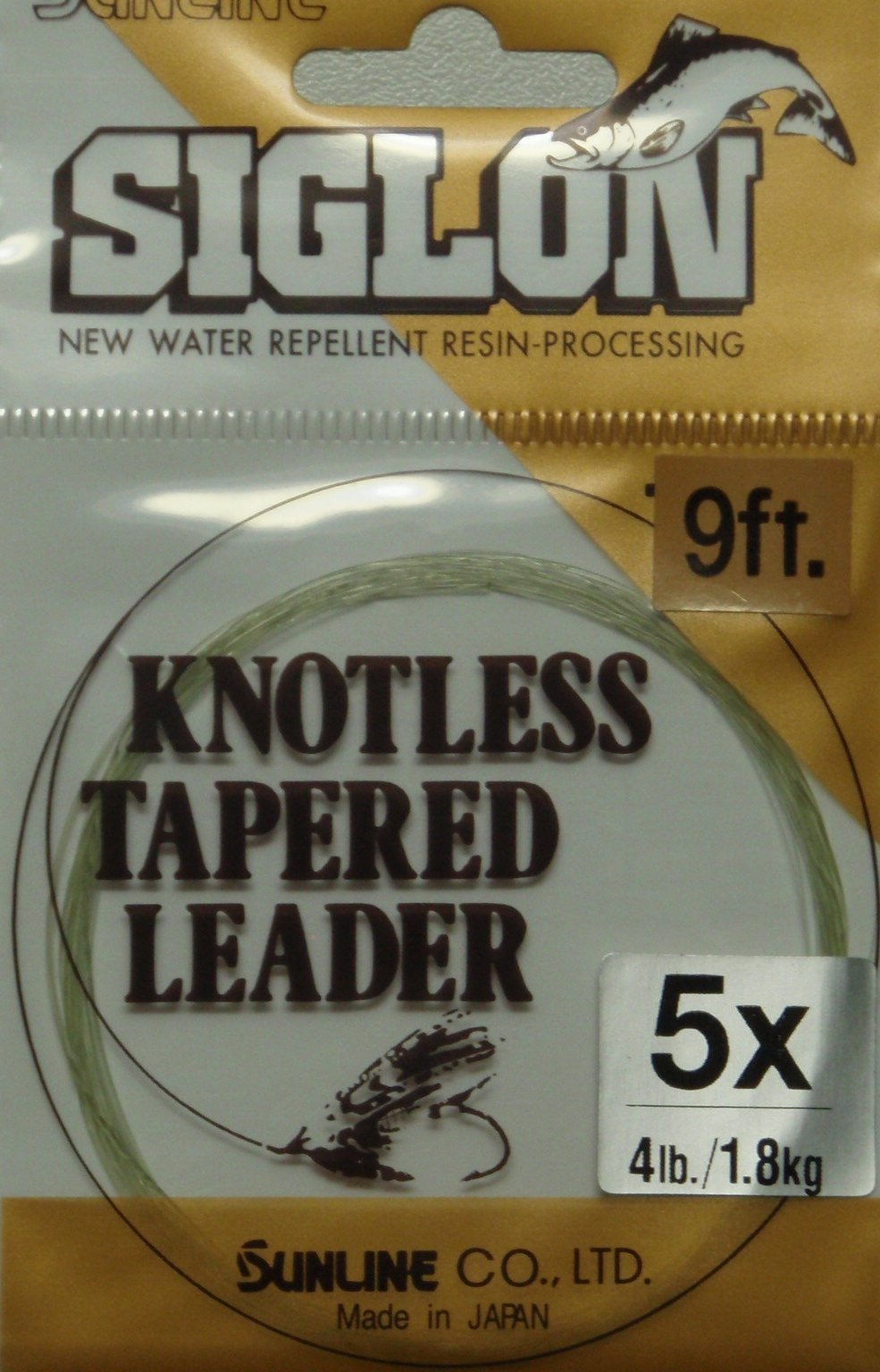Siglon Knotless Tapered Leader 9 foot