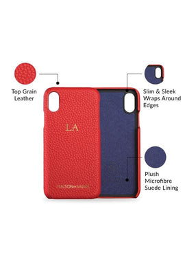 iphone x/xs phone case- red- product features
