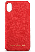 iphone x/xs phone case- red- front