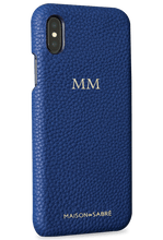 iphone xs max phone case- blue- perspective