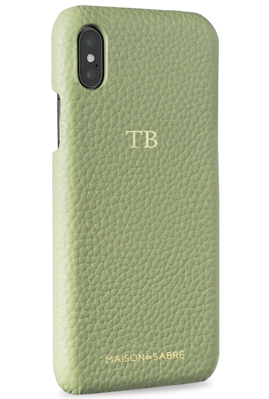 iphone xs max phone case- matcha- perspective