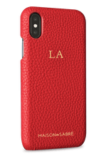 iphone x/xs phone case- red- perspective