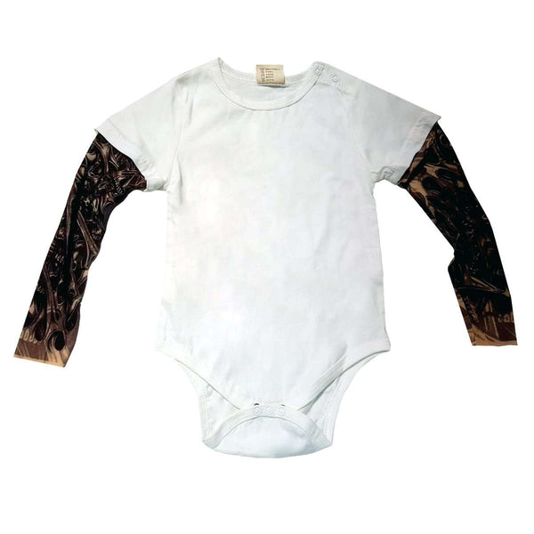 Mesh Tattoo Long Sleeve Onesie