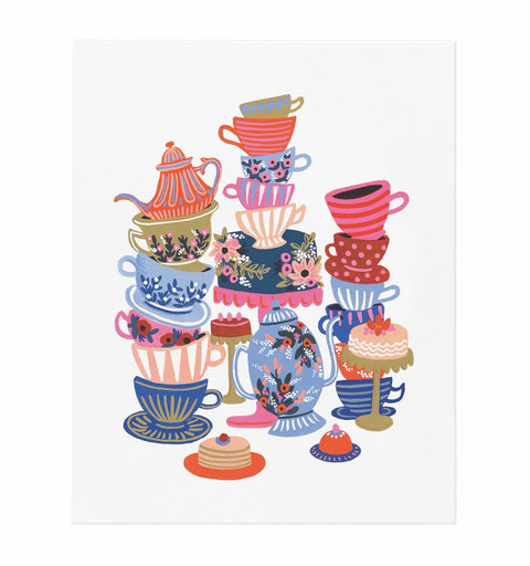 Alice in Wonderland Teacups Art Print (8X10)