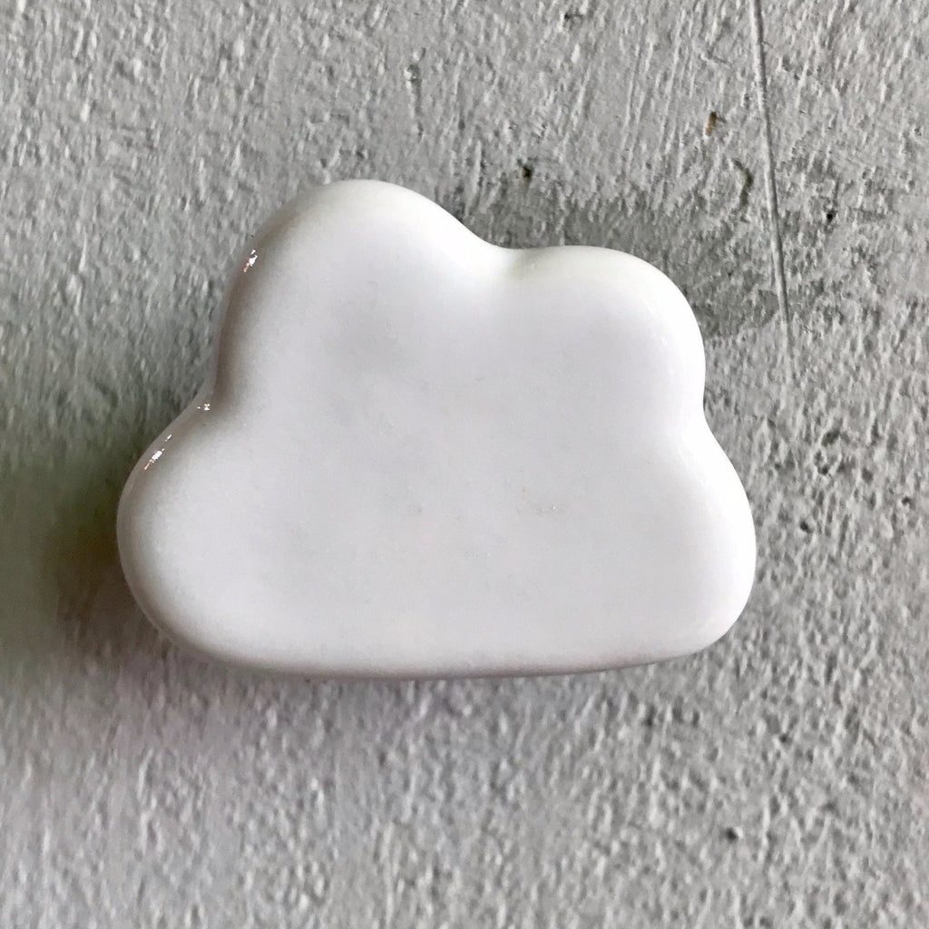 White Cloud Ceramic Knob