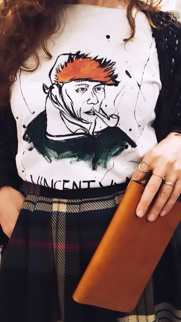 Hand drawing Vincent van Gogh t-shirt