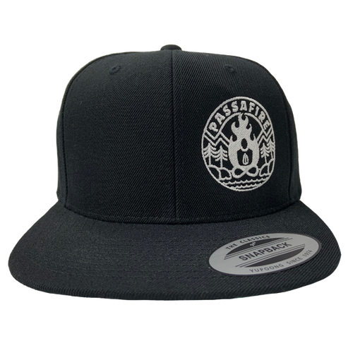 Circle Snap Back - Black / White