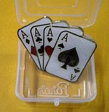 Magicians Lapel Pin 4 Aces