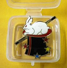 Magicians Lapel Pin Rabbit In Hat