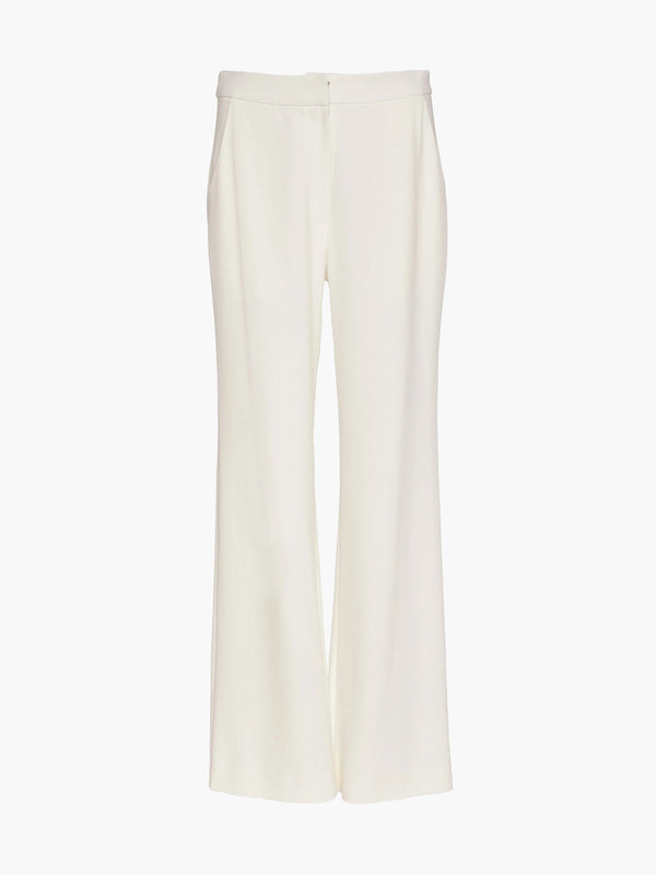 Flat Front Straight Leg Pant | Cream Flat Front Straight Leg Pant | Cream