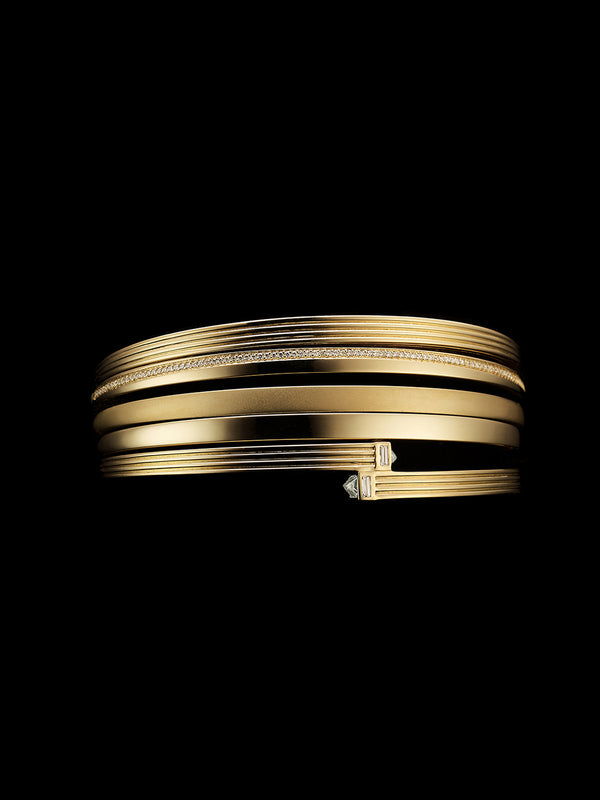 Fluted Capstone Double Wrap Bangle Fluted Capstone Double Wrap Bangle