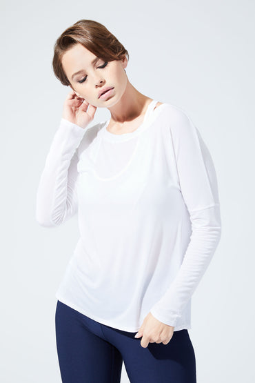 Elated Warrior Knit Drape Top
