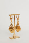 Brecht Drop Disk Earrings