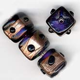 Vintage Indian Amethyst Cube Beads. 10mm. Pkg of 1. b11-pp-0758