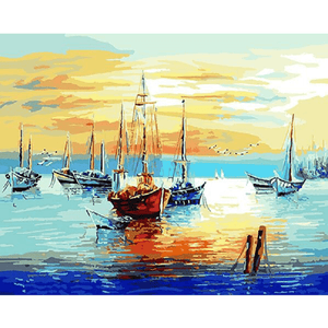 Fishing Boats - Paint by Numbers Kit