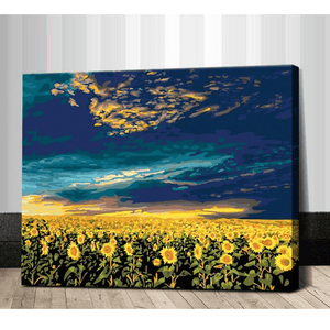 Sunflower Fields - Paint by Numbers Kit