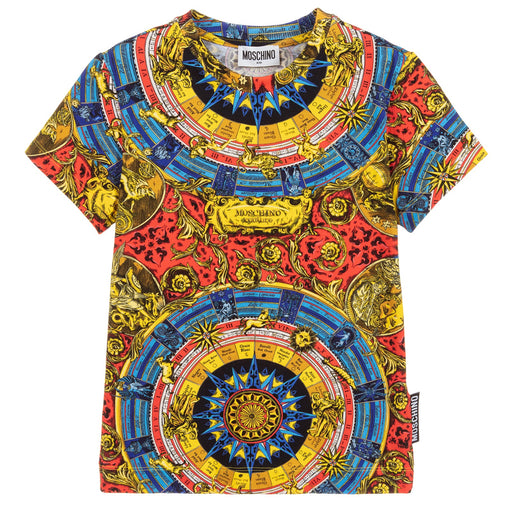 Boys Baroque Print Cotton T-Shirt