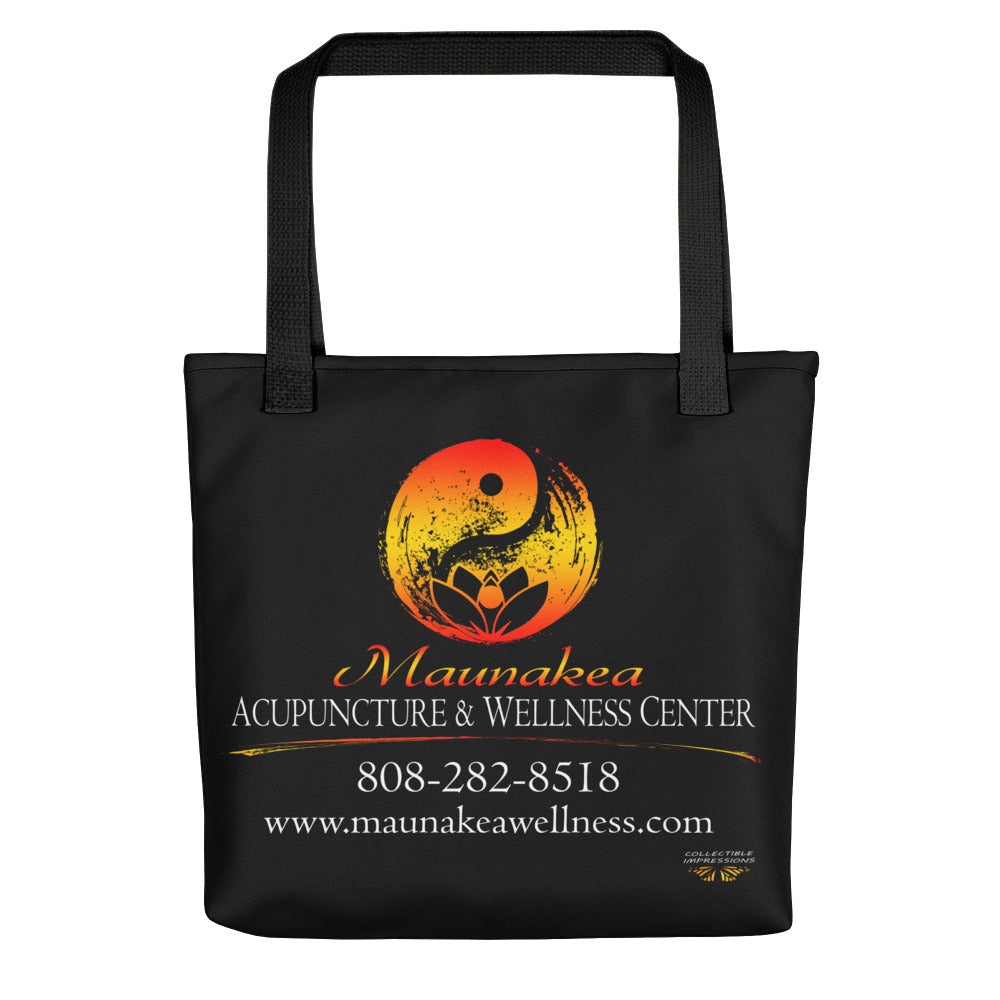"Maunakea Acupuncture & Wellness Center Tote in ""Black"""