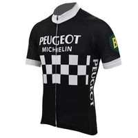 Vintage cycling black jersey Peugeot