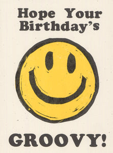 GROOVY SMILEY BIRTHDAY CARD