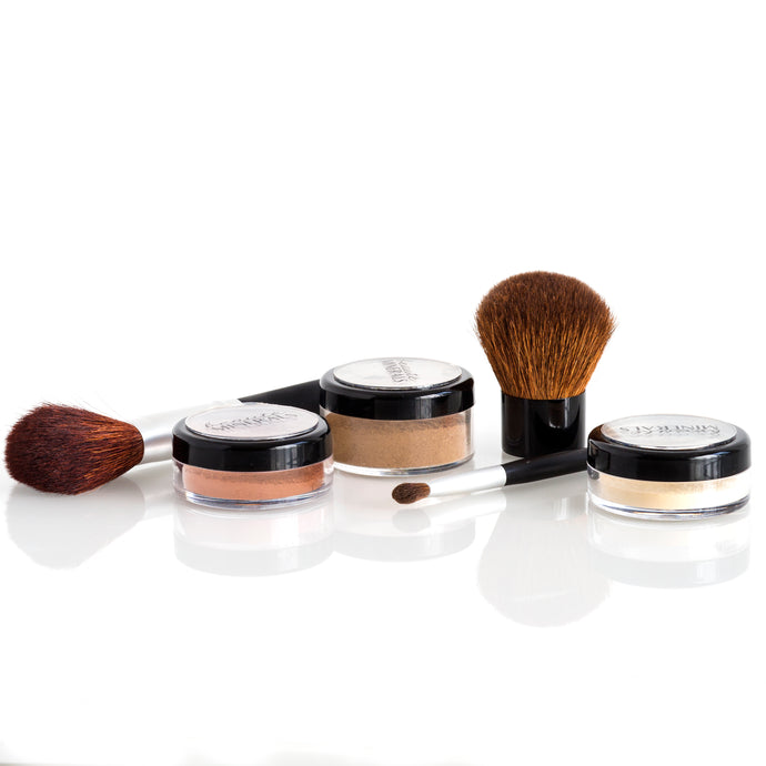 The Basics Kit with Brushes in Medium Dark Warm