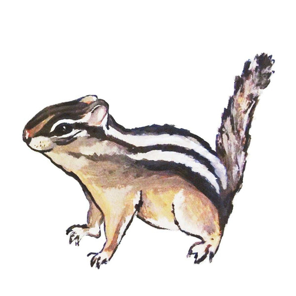 Standing Chipmunk Wall Decal