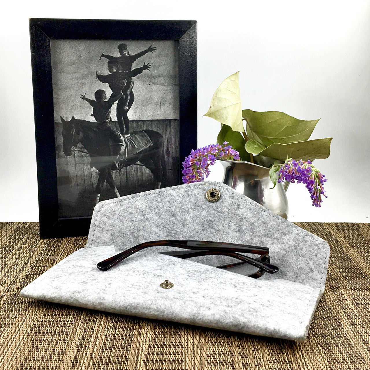 Felted Envelope shown used as eyeglass case