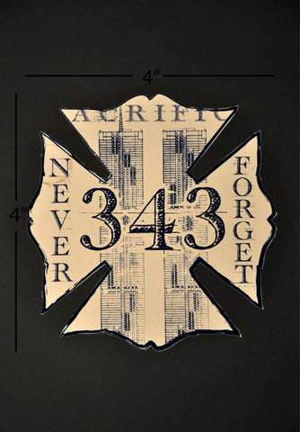 The Blueprint for Sacrifice Firefighter Vehicle Decal