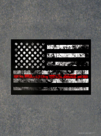 The Units Redline Flag Decal