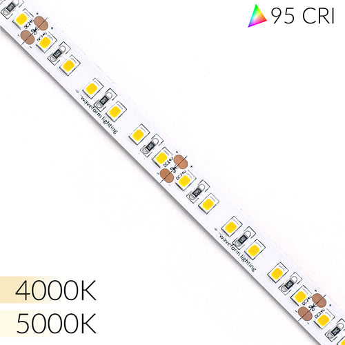Ultra High 95 CRI LED Strip Lights for Commercial & Retail - 16ft/5m Reel