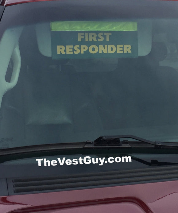 First Responder Car Visor Name Tag