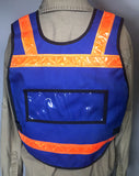 Royal Blue Pull Over Reflective Vest by The Vest Guy