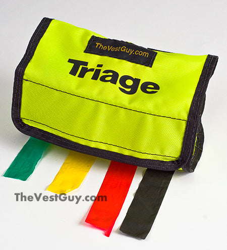 Custom triage tape pouch