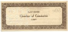 Kansas-Clay Center, Chamber of Commerce Script 50 Cents, March 10, 1933