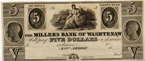 Michigan-Ann Arbor, The Millers Bank of Washtenaw $5, 18_