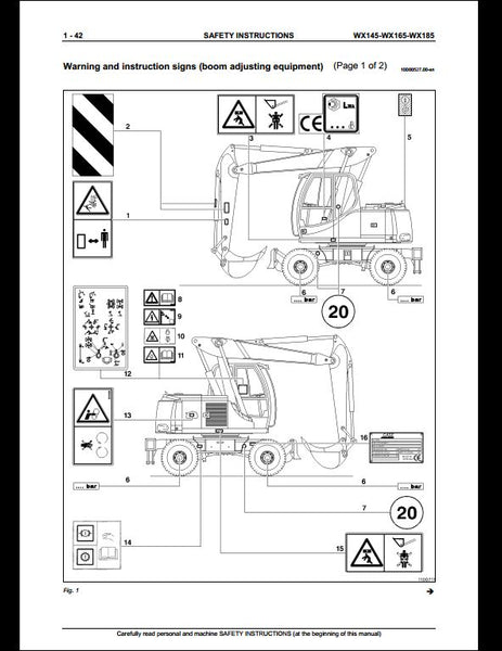 Case WX145 WX16 WX185 Wheeled Excavator Workshop Service Repair Manual
