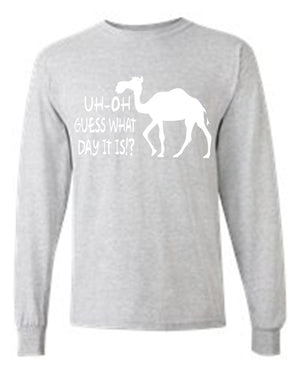 Men's/Unisex Uh Oh Guess What Day It Is? White