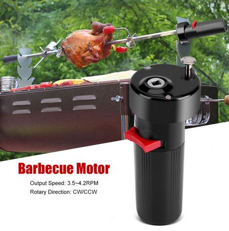 BBQthingz™ | Battery Operated Rotisserie Rotator Barbecue Motor BBQ Grill Bracket