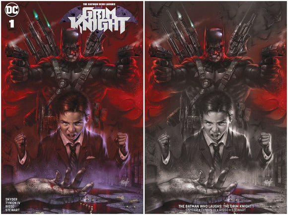 THE GRIM KNIGHT #1 Lucio Parrillo Exclusive SET (Trade + Horror Variant) ***Limited to 1000 w/ COA!***