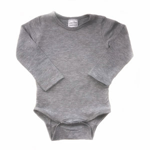 Bodysuit - Grey with Plain Long Sleeve