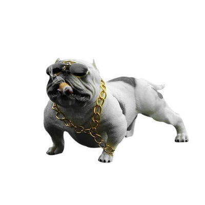 Cool Car Bulldog Pet ShopRely White