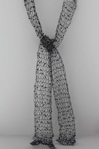 361N  Wire Scarf-Black