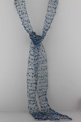 362N Wire Scarf-Blue