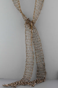 363N  Wire Scarf-Bronze
