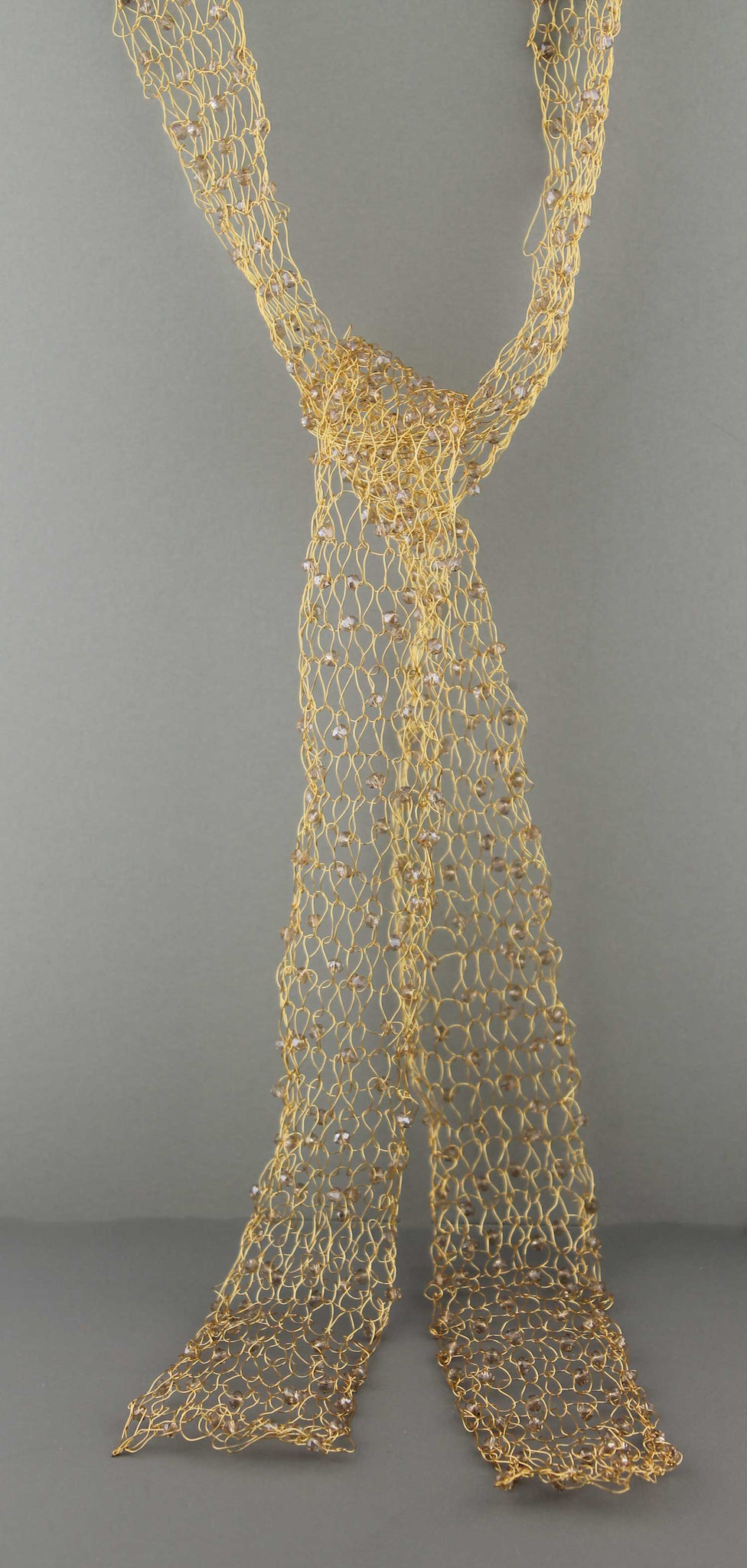 365N  Wire Scarf-Gold