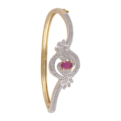 Indian Jewellery from Meira Jewellery:Bracelet,Meira Jewellery Bracelet with  Red Ruby and American melee diamonds for Women