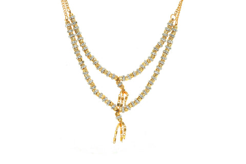 Indian Jewellery from Meira Jewellery:Chain Necklace,Trendy Golden Chain Necklace MJ-DOK-HD-DLSG